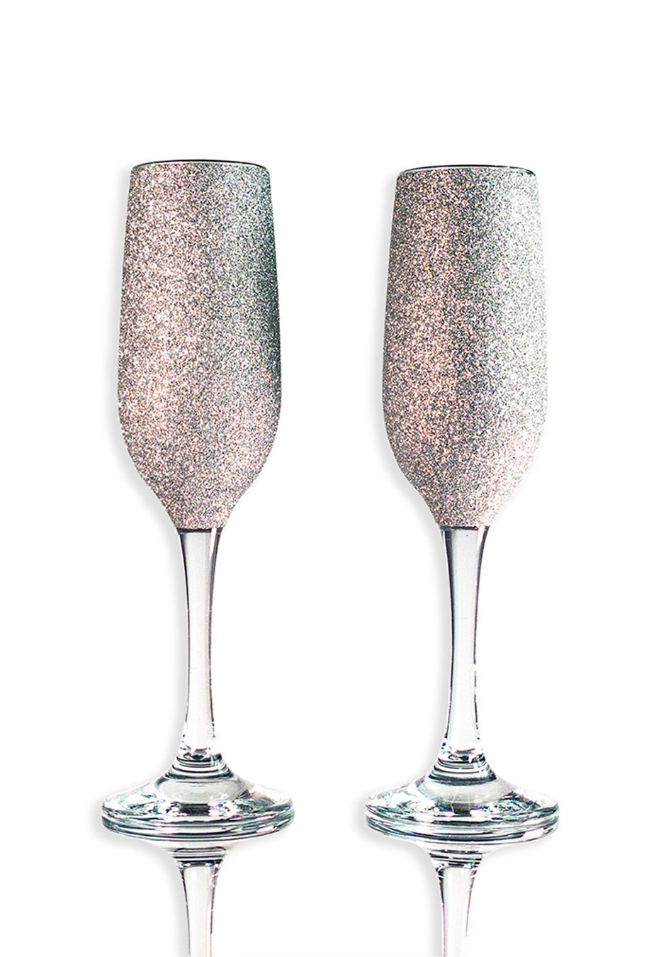 Silver Champagne flutes | Sparkleware gift set