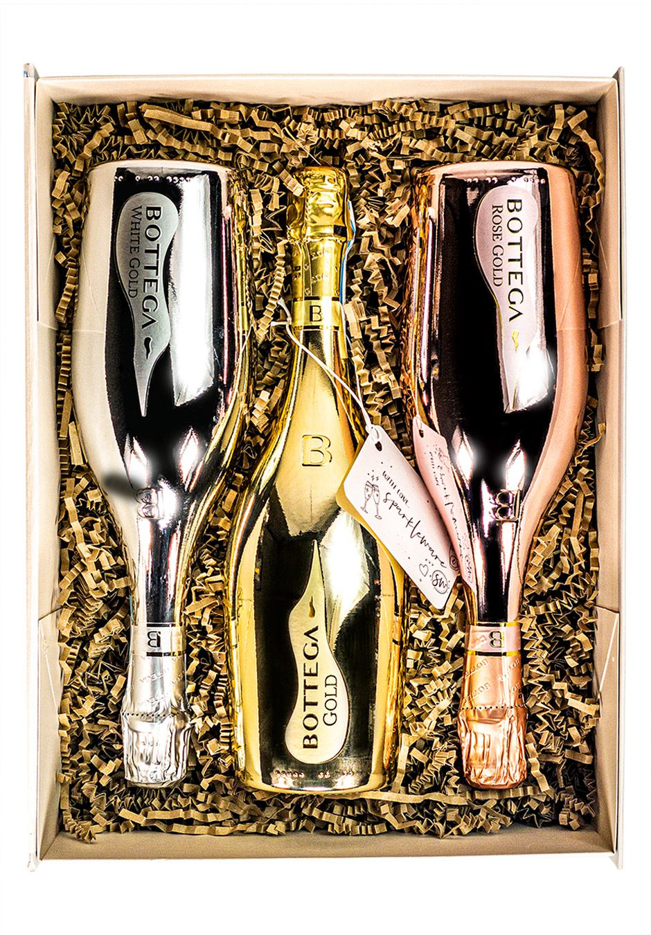Bottega 75cl trio | Prosecco and Sparkling Wine | Sparkleware Gift Set | Keico Drinks