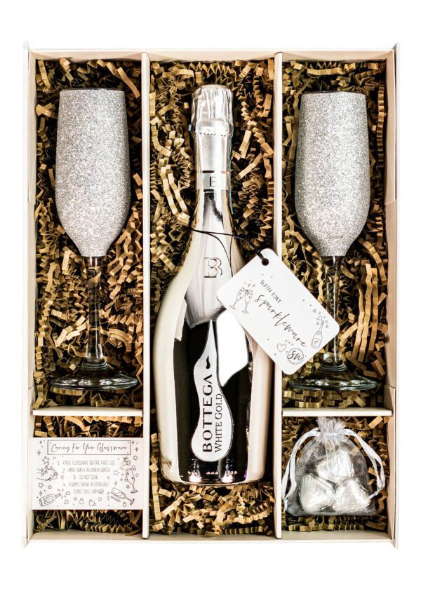 Bottega | White Gold Prosecco 75cl | Sparkleware Gift Set | Keico Drinks