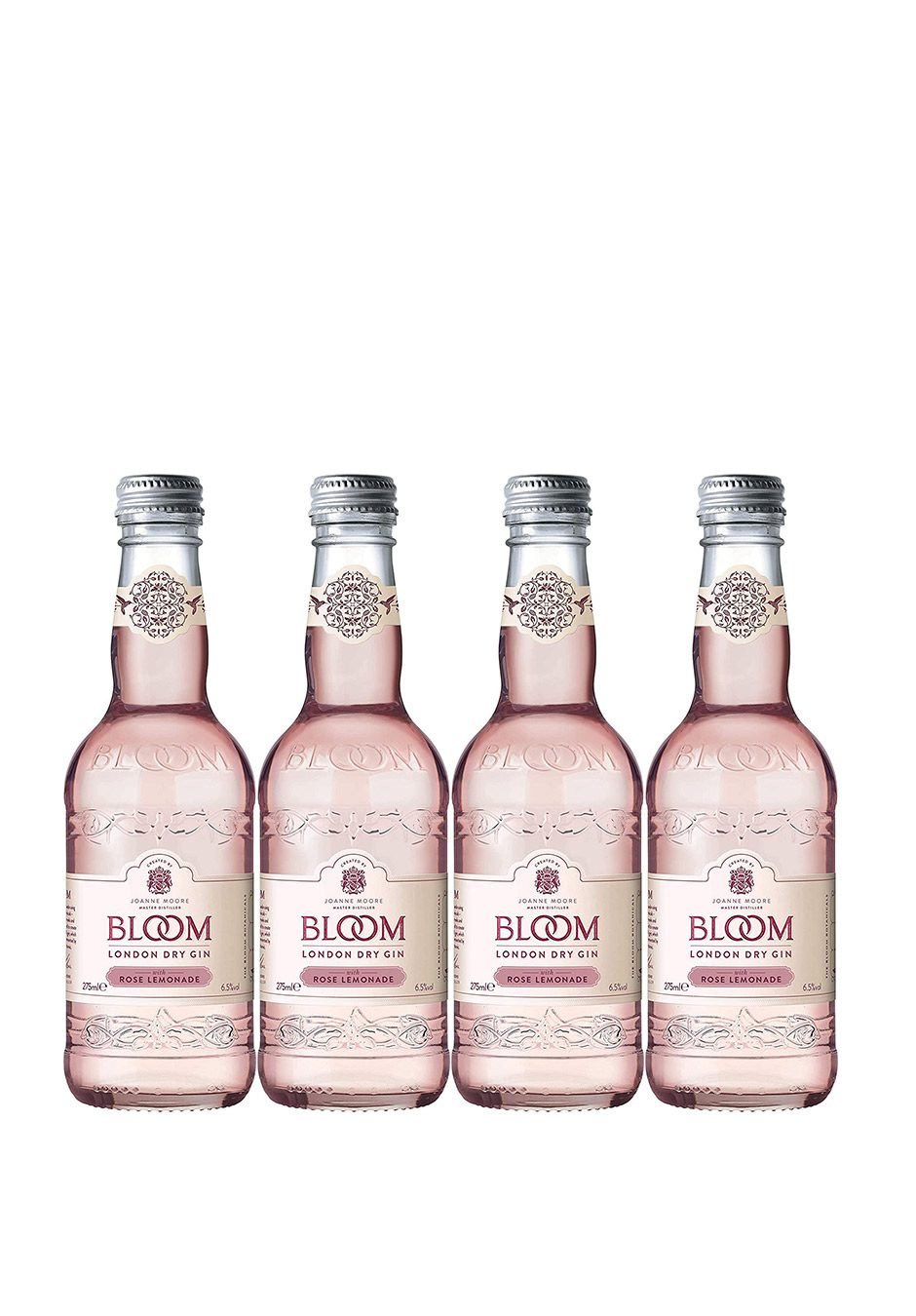 Bloom Gin | Rose Lemonade | 4 x 275ml | KeiCo Drinks