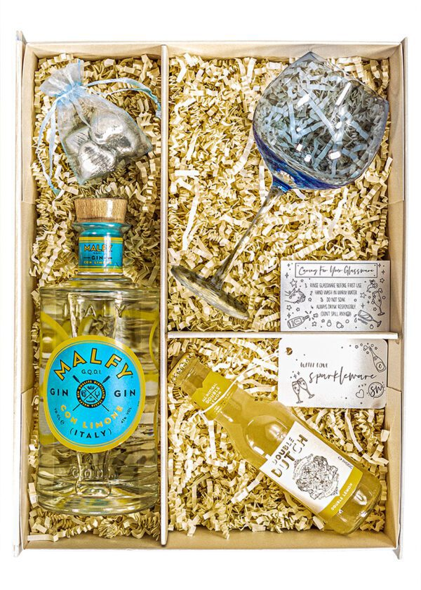 Malfy Gin | Con Limone Gin | 70cl | Sparkleware Gift Set | Keico Drinks
