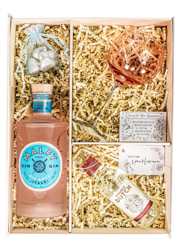 Malfy Gin | Gin Rosa | Sicilian pink grapefruit | 70cl | Sparkleware Gift Set | Keico Drinks