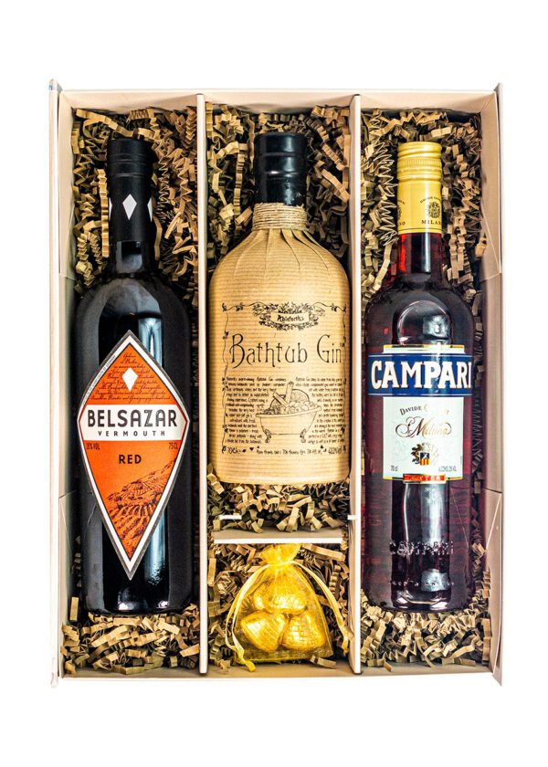 Negroni Bundle | Campari Bitter | Belsazar Vermouth Red | Bathtub Gin | KeiCo Drinks