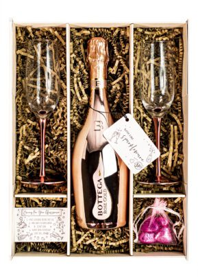 Bottega | Rose Gold Sparkling Wine 75cl | Sparkleware Gift Set | Keico Drinks