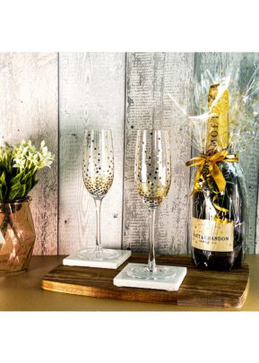 Sparkleware® Glass Champagne Glass Flutes | Keico Drinks