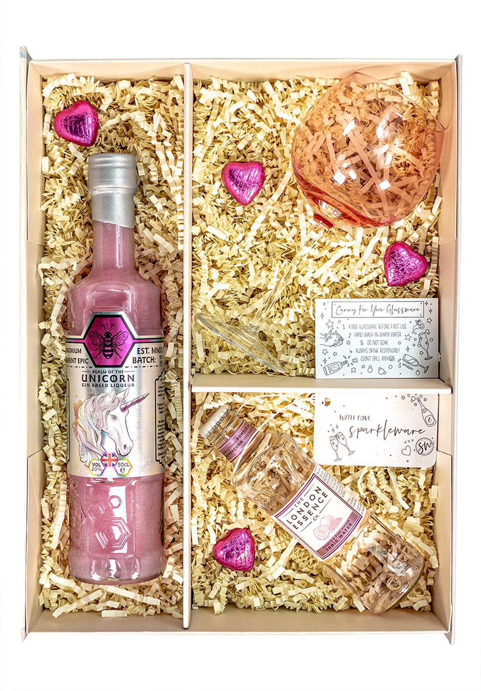 Zymurgorium Realm of the Unicorn Gin Based Liqueur | 50cl | Sparkleware gift set | Keico Drinks