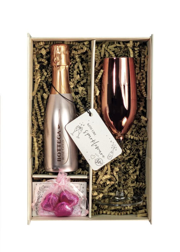 Bottega Rose Gold | 20cl Prosecco | Sparkleware gift set | Keico Drinks