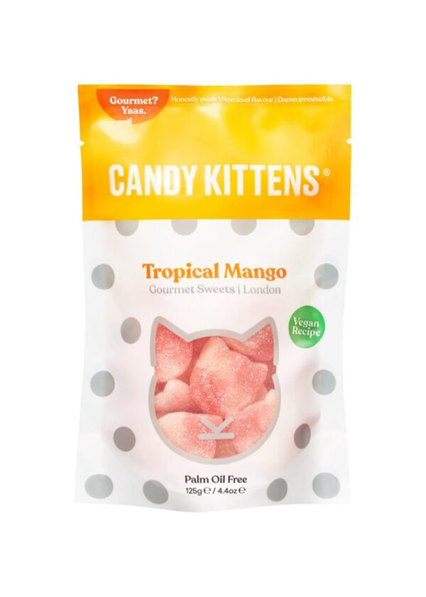 Candy Kittens | Tropical Mango | 125g Treat Bag | KeiCo Drinks