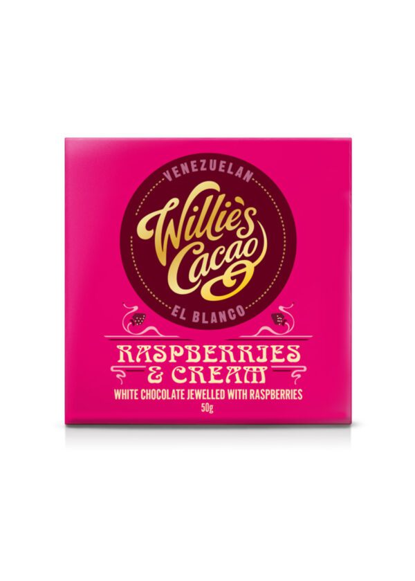 Willie's Cacao | Raspberries & Cream White Chocolate 50g