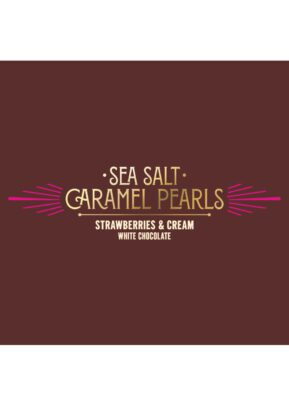 Willie's Cacao   Strawberries & Cream   Caramel Pearls 150g
