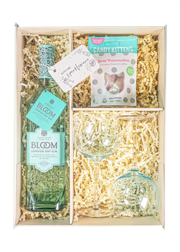 Bloom London Dry Gin | 70cl | Sparkleware Gift Set | Keico Drinks