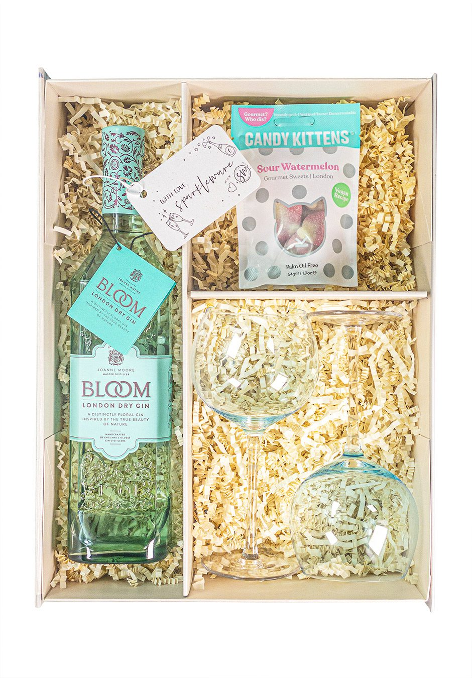 Bloom London Dry Gin   70cl   Sparkleware Gift Set   Keico Drinks