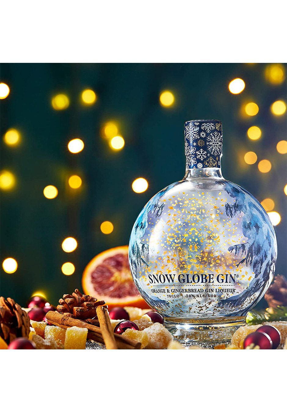 Snow Globe Gin 70cl | Orange And Gingerbread Liqueur | KeiCo Drinks