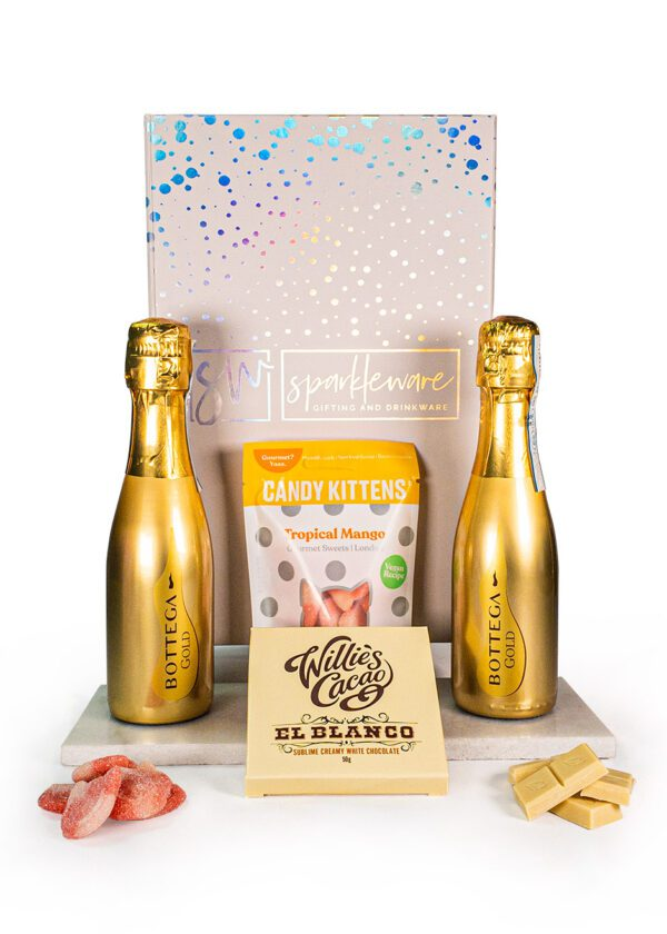 20cl Gold Bottega x 2 | Candy Kittens | Willies Cacao | Sparkleware Gift Set | Keico Drinks