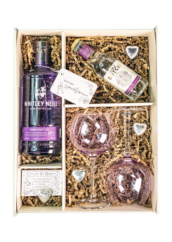 Whitley Neill | Parma Violet 70cl | Sparkleware Gift Set | KeiCo Drinks