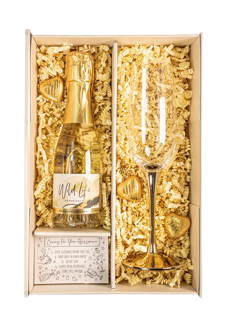 Wild Life Botanicals | 20cl Nude Sparkleware Gift Set | KeiCo Drinks
