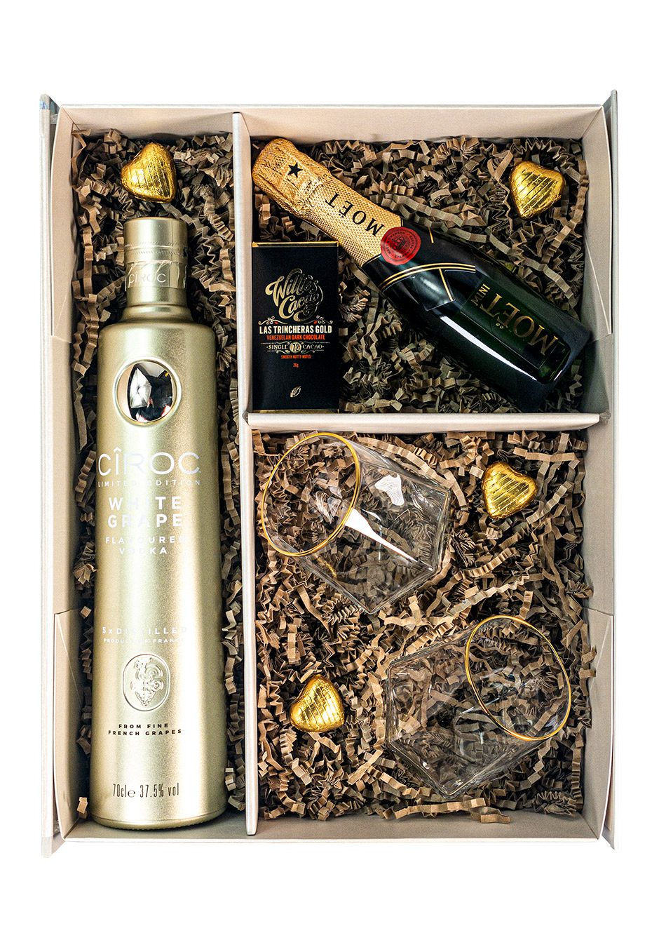 Ciroc White Grape 75cl | Moet & Chandon 20cl | Sparkleware Cocktail Gift Set | KeiCo Drinks