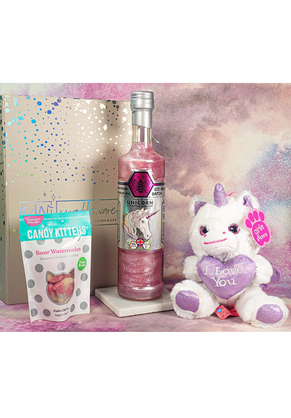 I Love You Unicorn | Sparkleware Gin Gift Set | KeiCo Drinks
