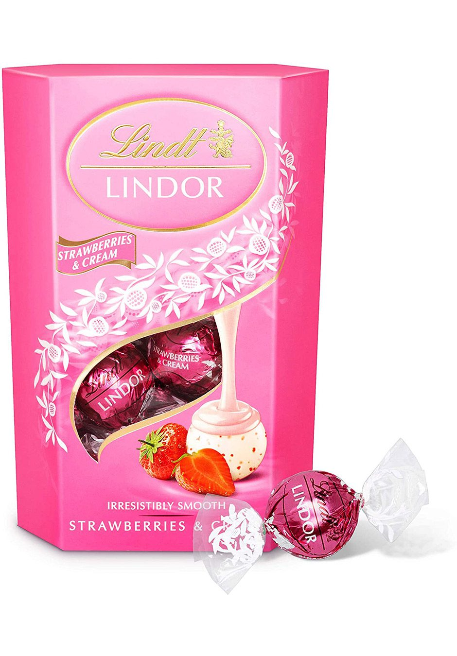 Lindt Lindor | Strawberries & Cream 200g | KeiCo Drinks