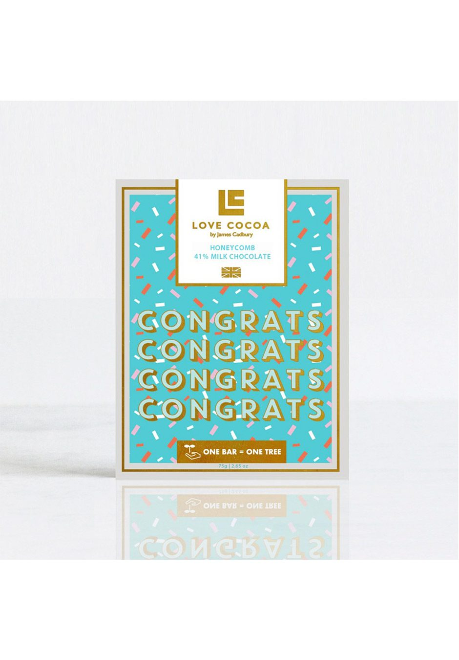 Love Cocoa 'Congratulations' | Honeycomb Milk Chocolate Bar | KeiCo Drinks