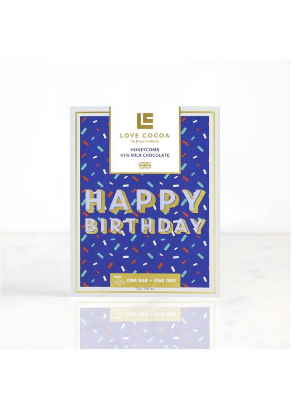 Love Cocoa 'Happy Birthday' | Milk Chocolate Bar | KeiCo Drinks
