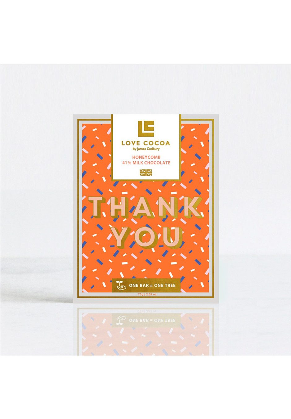 Love Cocoa 'Thank You' | Honeycomb Milk Chocolate Bar | KeiCo Drinks