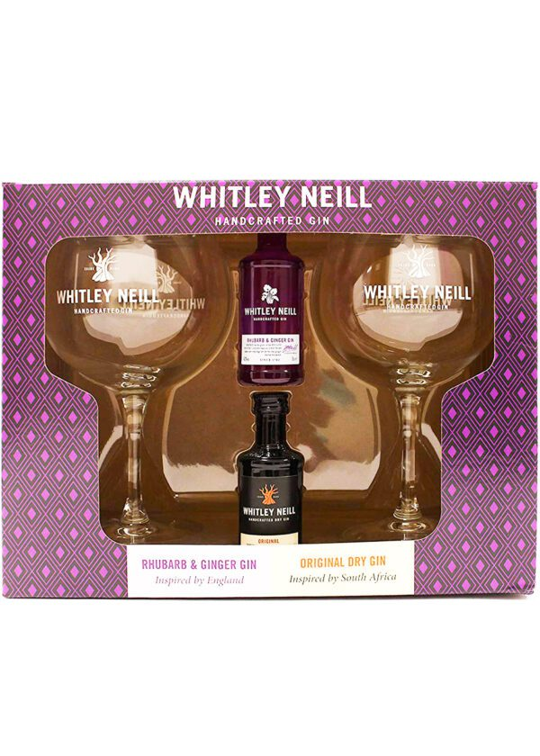 Whitley Neill | 2 x 5cl with Copa Gin Glasses | Gift Set | KeiCo Drinks