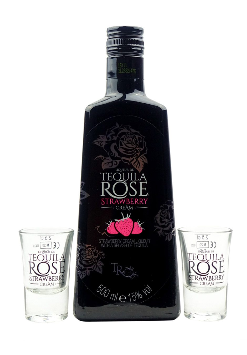 Tequila Rose   50cl Gift Set   2 x Shot Glasses   KeiCo Drinks