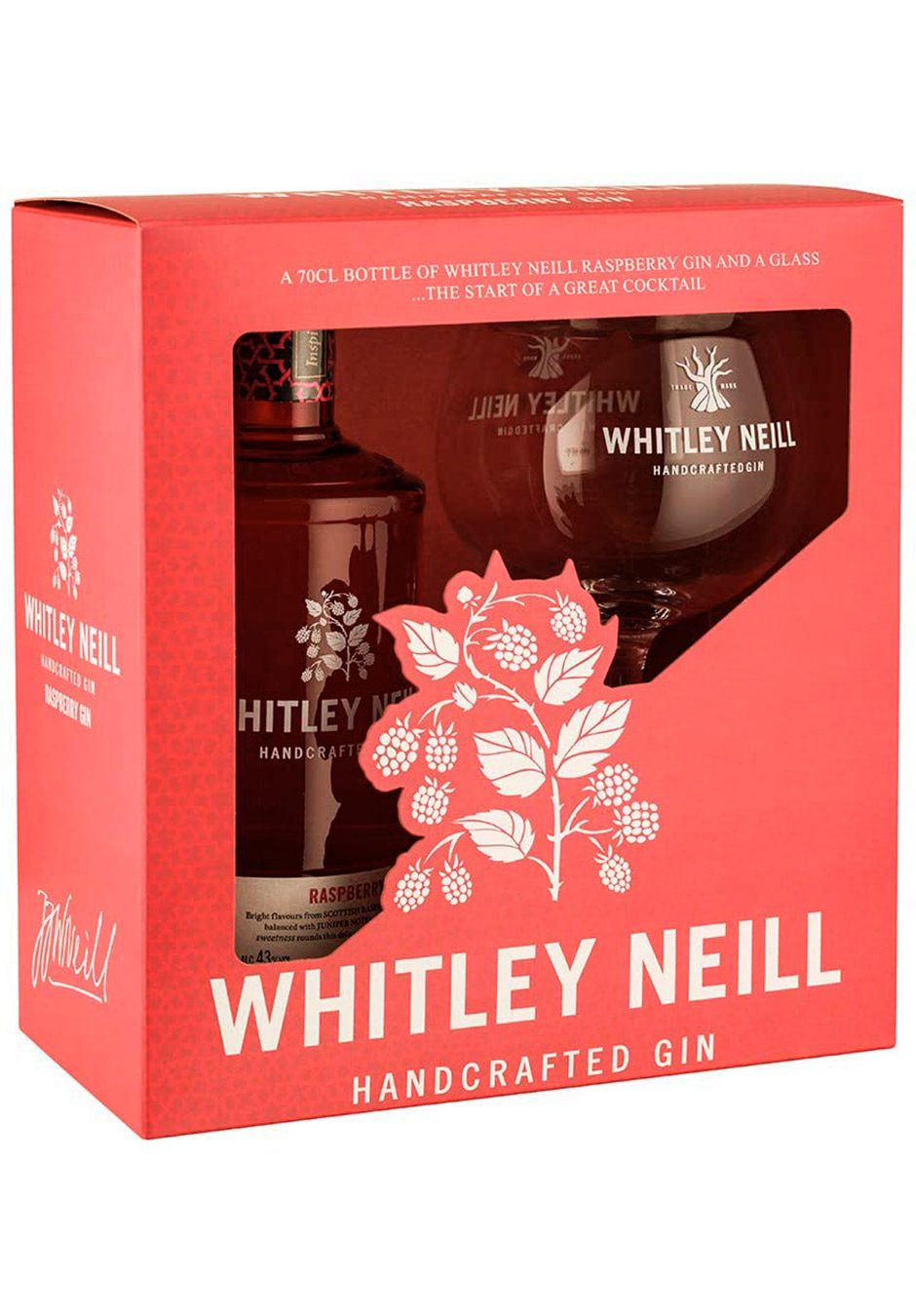 Whitley Neill Raspberry | 70cl Gift Set | KeiCo Drinks