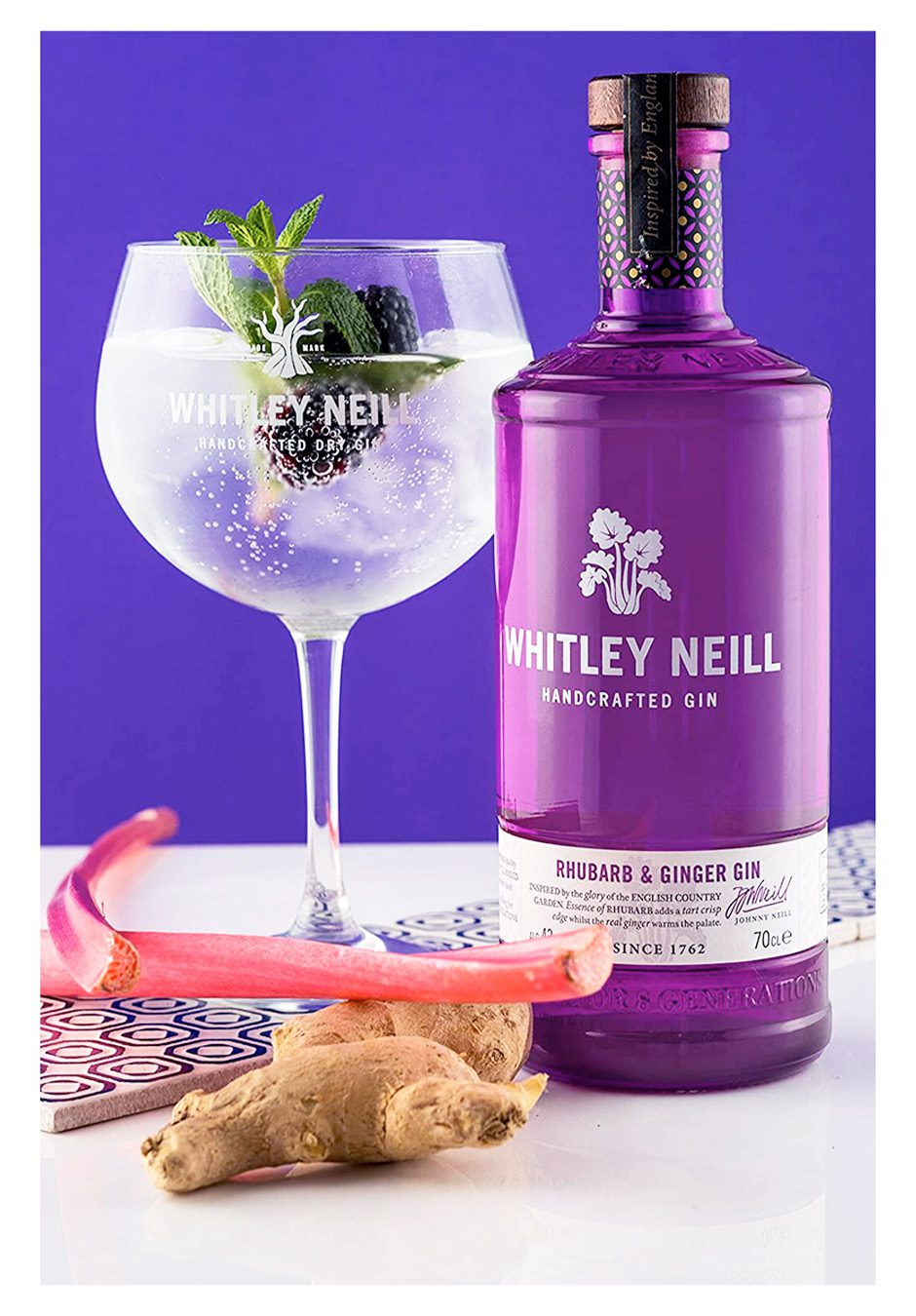 Whitley Neill Rhubarb & Ginger | 70cl Gift Set | KeiCo Drinks